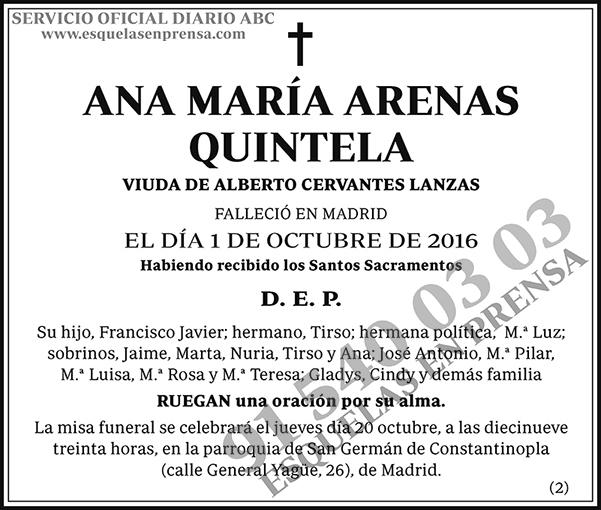 Ana María Arenas Quintela